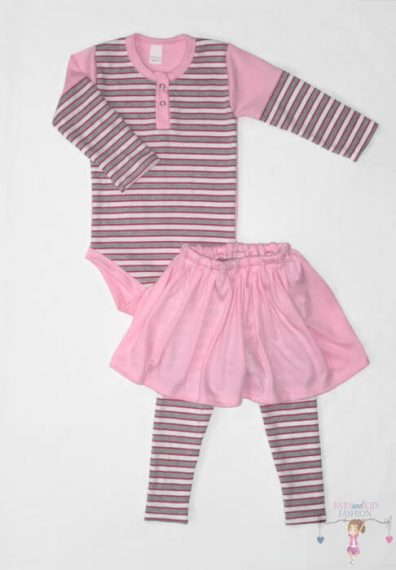 baba body és szoknyás leggings, két részes szett, kisbabáknak, termékkép.