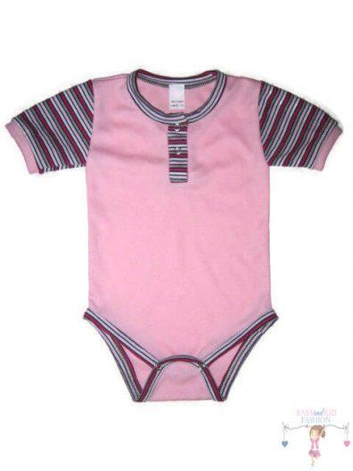 baba body, rózsaszín színű, kisbabáknak, termékkép.