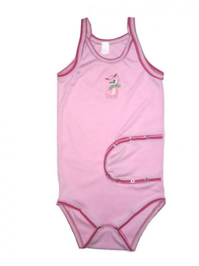 baba body, peg body, spagetti pántos, rózsaszín színű, termékkép.