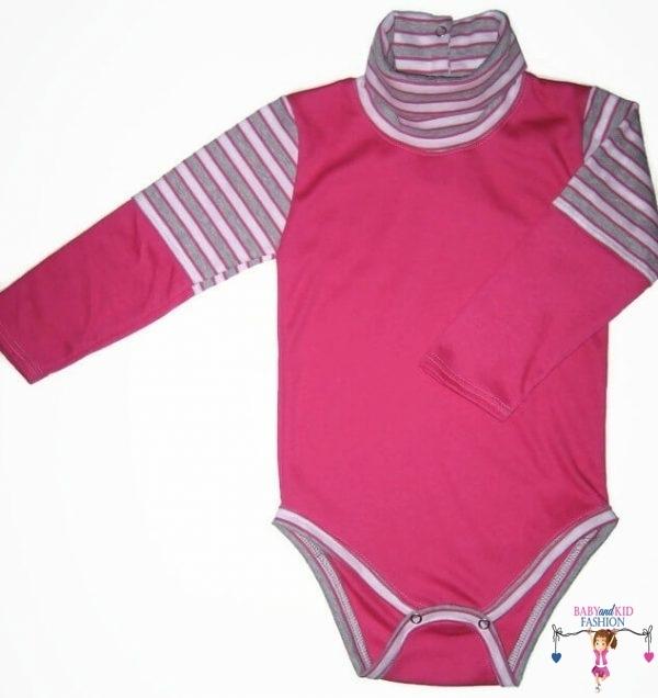 baba body, garbós pink színű, kisbabáknak, termékkép.