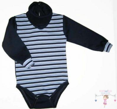 baba body, garbós sötétkék csíkos, kisbabáknak, termékkép.