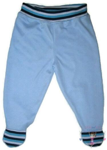 lábfejes baba nadrág, világoskék színű, kisbabáknak, termékkép.