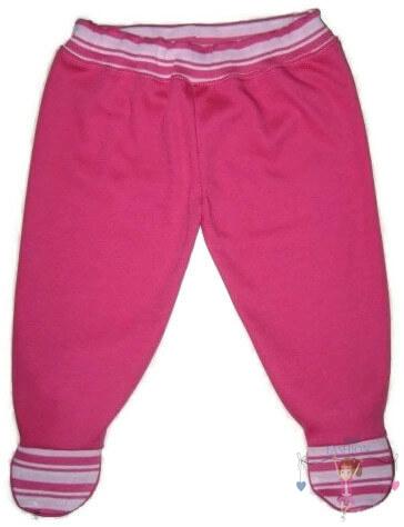 lábfejes nadrág, pink színű, kisbabáknak, termékkép.