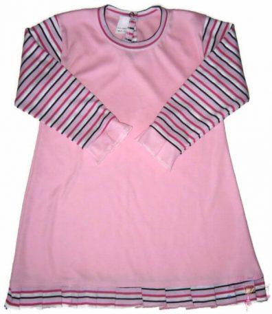 lányka tunika, 50-116, hosszú ujjú, rózsaszín színű, kislányoknak, termékkép.