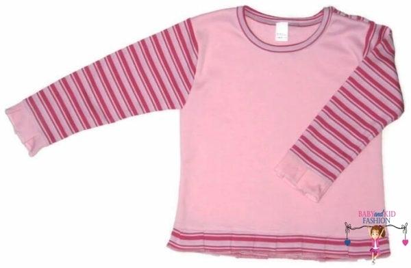 baba pulcsi, rózsaszín színű, vállnál patentos, kisbabáknak, termékkép.