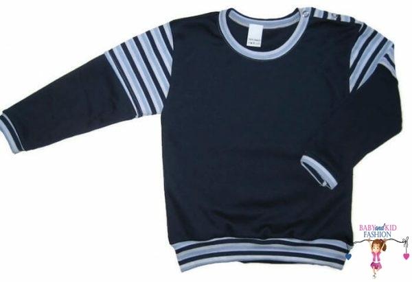 baba pulcsi, sötétkék színű, vállnál patentos, kisbabáknak, termékkép.
