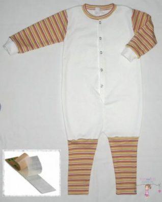 tipegő hálózsák, fehér színű, belül bolyhos, téli, kisbabáknak, termékkép.
