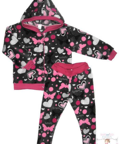 wellsoft mellény és leggings, két részes wellsoft kapucnis szett kislányoknak, termékkép.