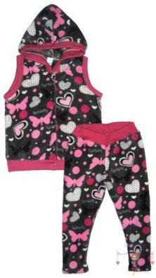 wellsoft mellény és leggings, két részes wellsoft kapucnis mellényes szett kislányoknak, termékkép.