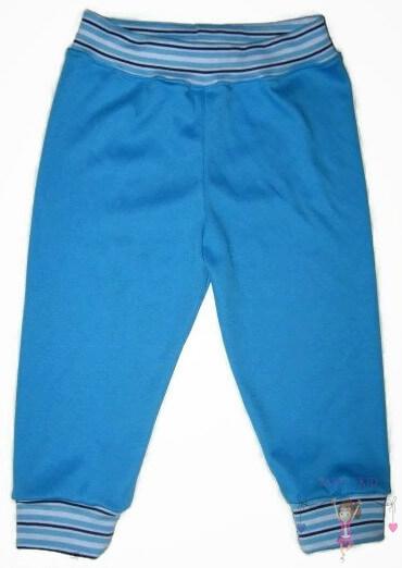 kisfiú nadrág, türkizkék színű, hosszú szárú fazon, kisbabáknak, termékkép.
