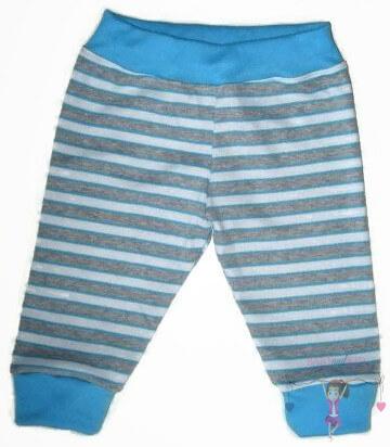 baba nadrág, kék csíkos, hosszú szárú fazon, kisfiúknak, termékkép.