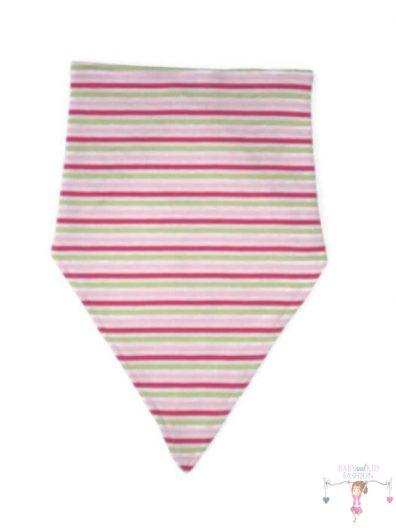 baba nyálkendő, rózsaszín csíkos, kislányoknak, termékkép.
