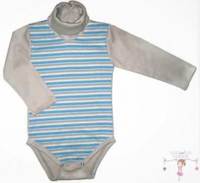baba body, garbós kék csíkos, kisbabáknak, termékkép.