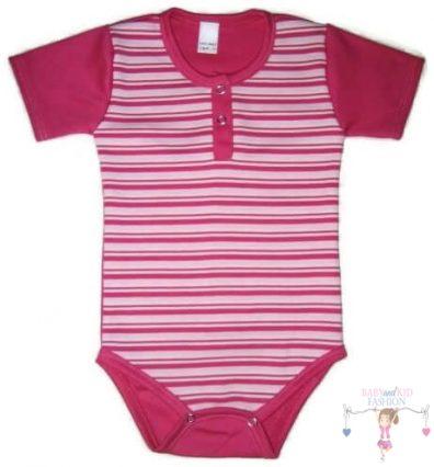 baba body, pink csíkos, kisbabáknak, termékkép.