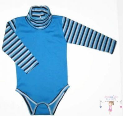 baba body, garbós türkizkék színű, kisbabáknak, termékkép.