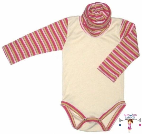baba body, garbós vajszínű, kisbabáknak, termékkép.