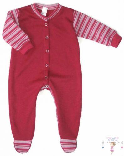 hosszú ujjú rugdalózó, pink színű, hosszú ujjú, talpas, kisbabáknak.