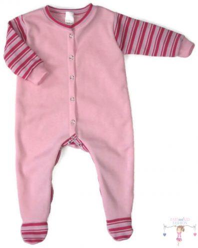 hosszú ujjú rugdalózó, rózsaszín színű, hosszú ujjú, talpas, kisbabáknak.