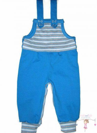 baba kertész nadrág, türkizkék színű, hosszú szárú, kisbabáknak, fiú, termékkép.