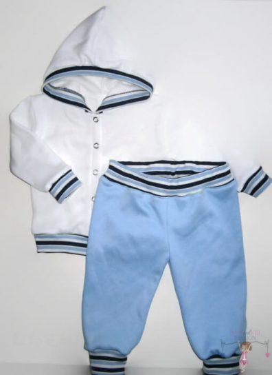 gyerek nadrág és kocsikabát, világoskék színű, hosszú ujjú felső és hosszú nadrág, kisfiúknak, termékkép.