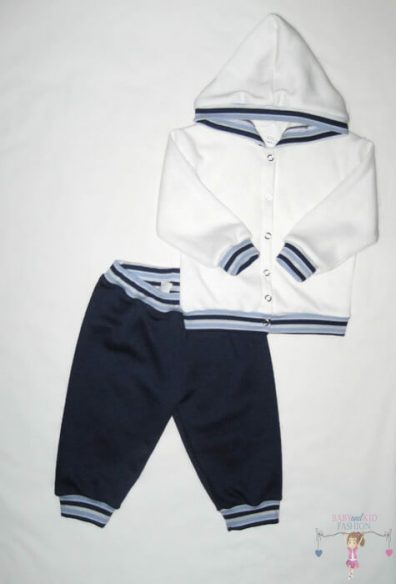 gyerek nadrág és kocsikabát, sötétkék színű, hosszú ujjú felső és hosszú nadrág, kisfiúknak, termékkép.