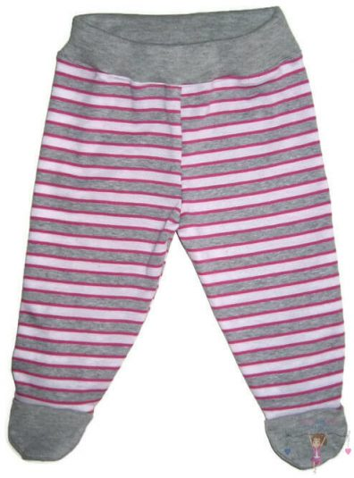 lábfejes baba nadrág, csíkos, kislányoknak, termékkép.