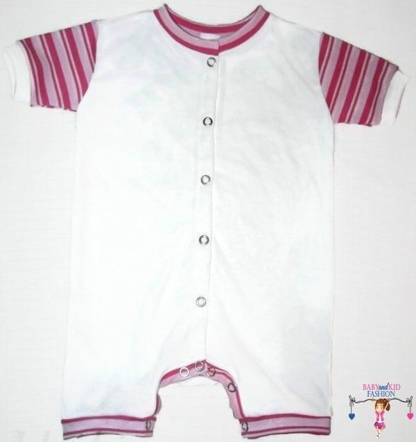 baba body, fehér színű, rövid szárú fazon, kisbabáknak, termékkép.