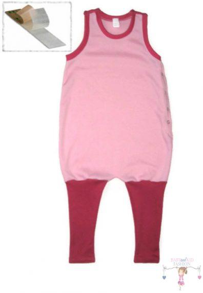 tipegő hálózsák, lányos, rózsaszín, kisbabáknak, termékkép.