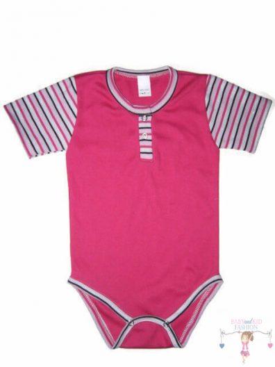 gyerek body, pink színű, kisbabáknak, termékkép.