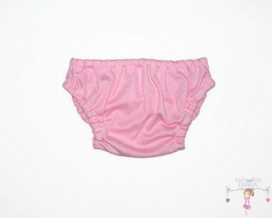 baba bugyi pelenkára, rózsaszín színű, kisbabáknak, termékkép.