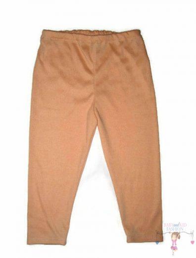 gyerek leggings, barack színű, hosszú szárú, kislányoknak, termékkép.