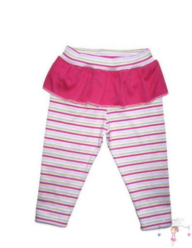 baba leggings, hosszú szárú, pink csíkos, kisbabáknak, termékkép.