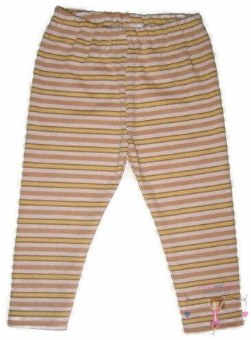 pamut leggings, barack csíkos, hosszú szárú, kislányoknak, termékkép.