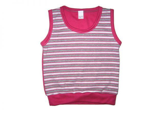 baba mellény, pink csíkos, kislányoknak, termékkép.