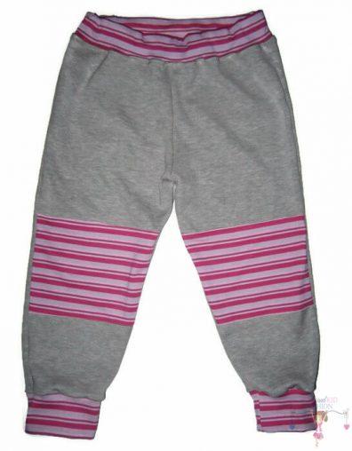 baba nadrág, hosszú szárú, szürke színű, kisbabáknak, termékkép.