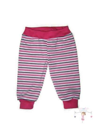 baba nadrág, pink csíkos, kisgyerekeknek, termékkép.