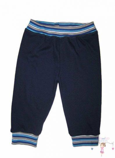 kisfiú nadrág, hosszú szárú, sötétkék színű, kisbabáknak, termékkép.