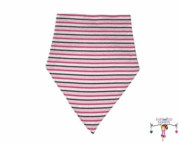 baba nyálkendő, pink csíkos, kislányoknak, termékkép.