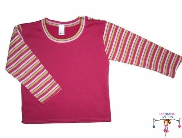 baba pulcsi, egyenes fazon, pink színű, kislányoknak, termékkép.