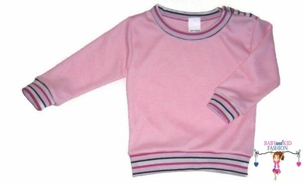 baba pulcsi, rózsaszín színű, vállnál patentos, kisgyerekeknek, termékkép.