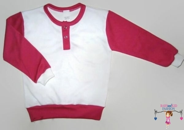 baba pulcsi, fehér színű, vállnál patentos, kisgyerekeknek, termékkép.