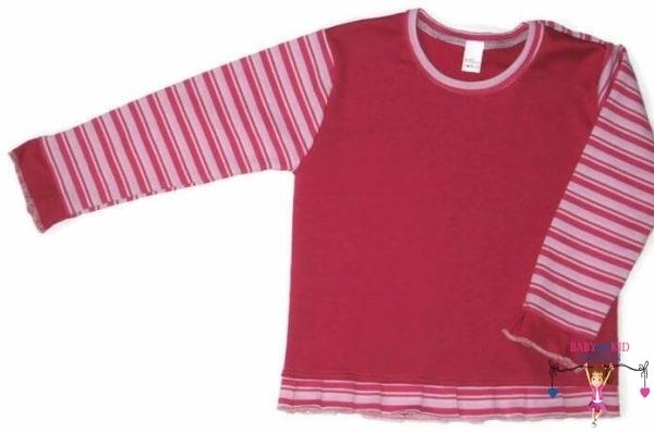 baba pulcsi, pink színű, vállnál patentos, kisgyerekeknek, termékkép.