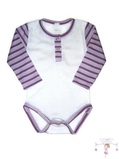 gyerek body, fehér színű, kisbabáknak, termékkép.