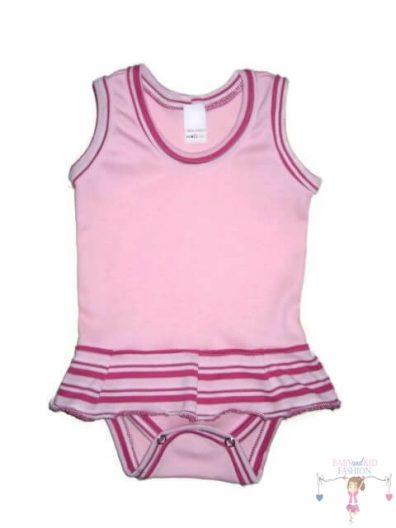 baba body, ujjatlan, rózsaszín színű, kisbabáknak, termékkép.