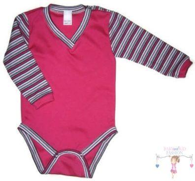 baba body, hosszú ujjú, pink színű, kisbabáknak, termékkép.