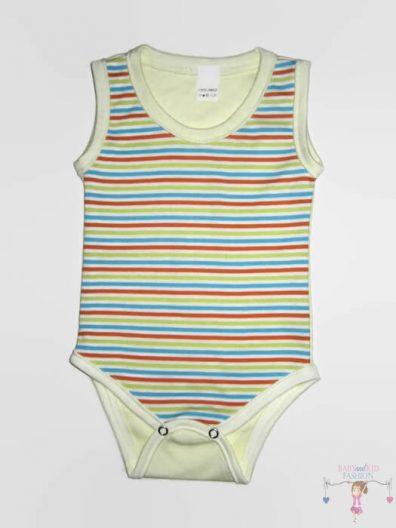 baba body, ujjatlan uniszex csíkos, kisbabáknak, termékkép.