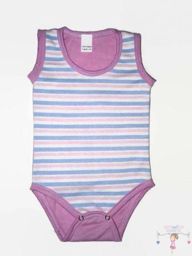 baba body, rózsaszín csíkos, kisbabáknak, termékkép.
