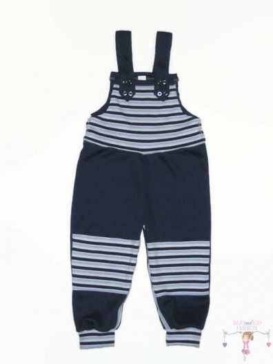 baba kertésznadrág, sötétkék színű, hosszú szárú, kisbabáknak, termékkép.