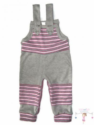 baba kertésznadrág, világosszürke színű, hosszú szárú, kisbabáknak, termékkép.
