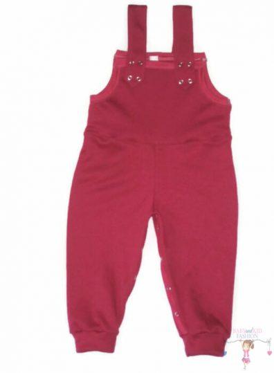 baba kertésznadrág, pink színű, kantáros nadrág, hosszú szárú, kisbabáknak, termékkép.